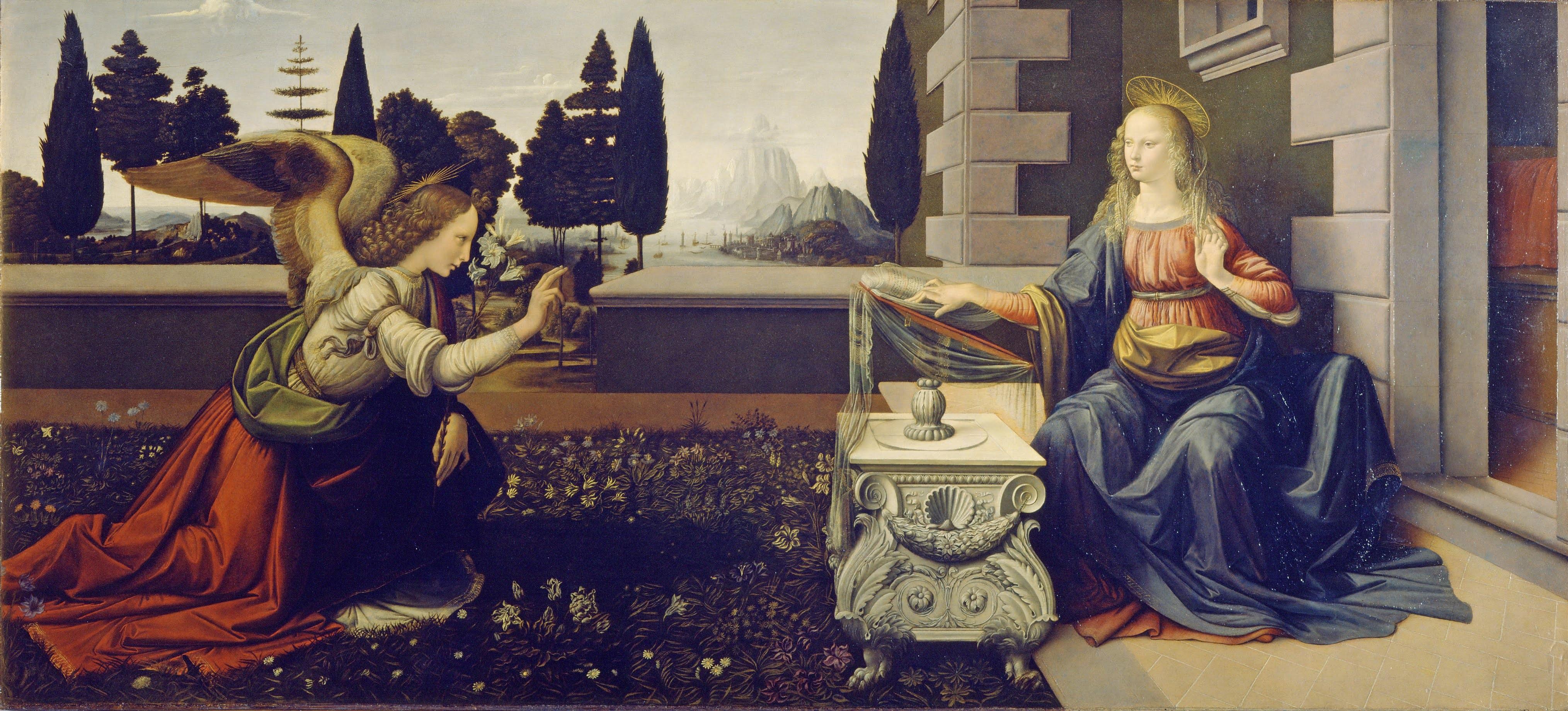 l'annonciation - leonard de Vinci