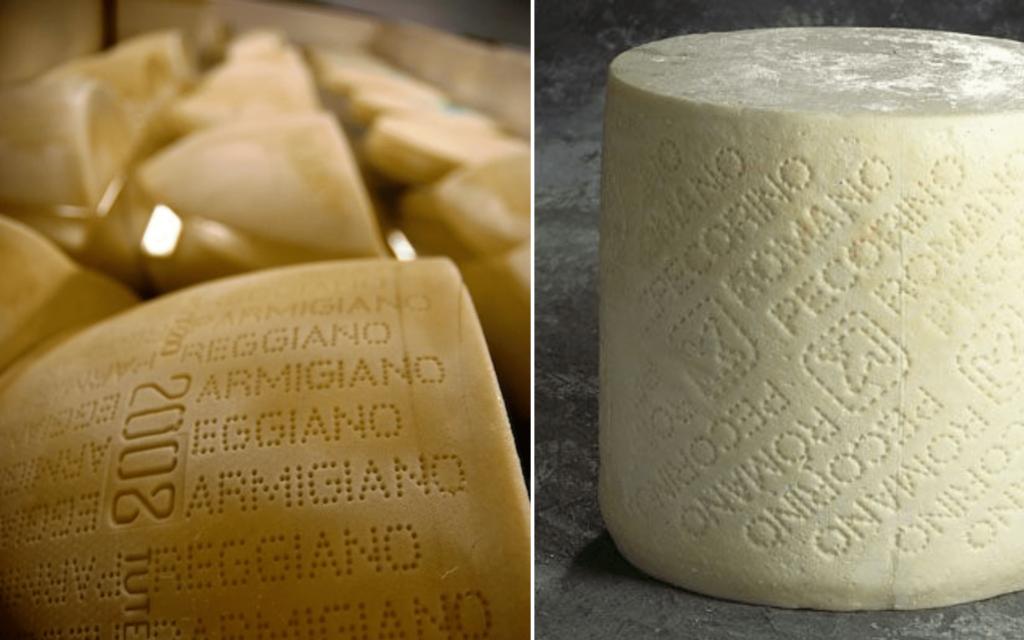 Parmigiano Reggiano ou Pecorino Romano