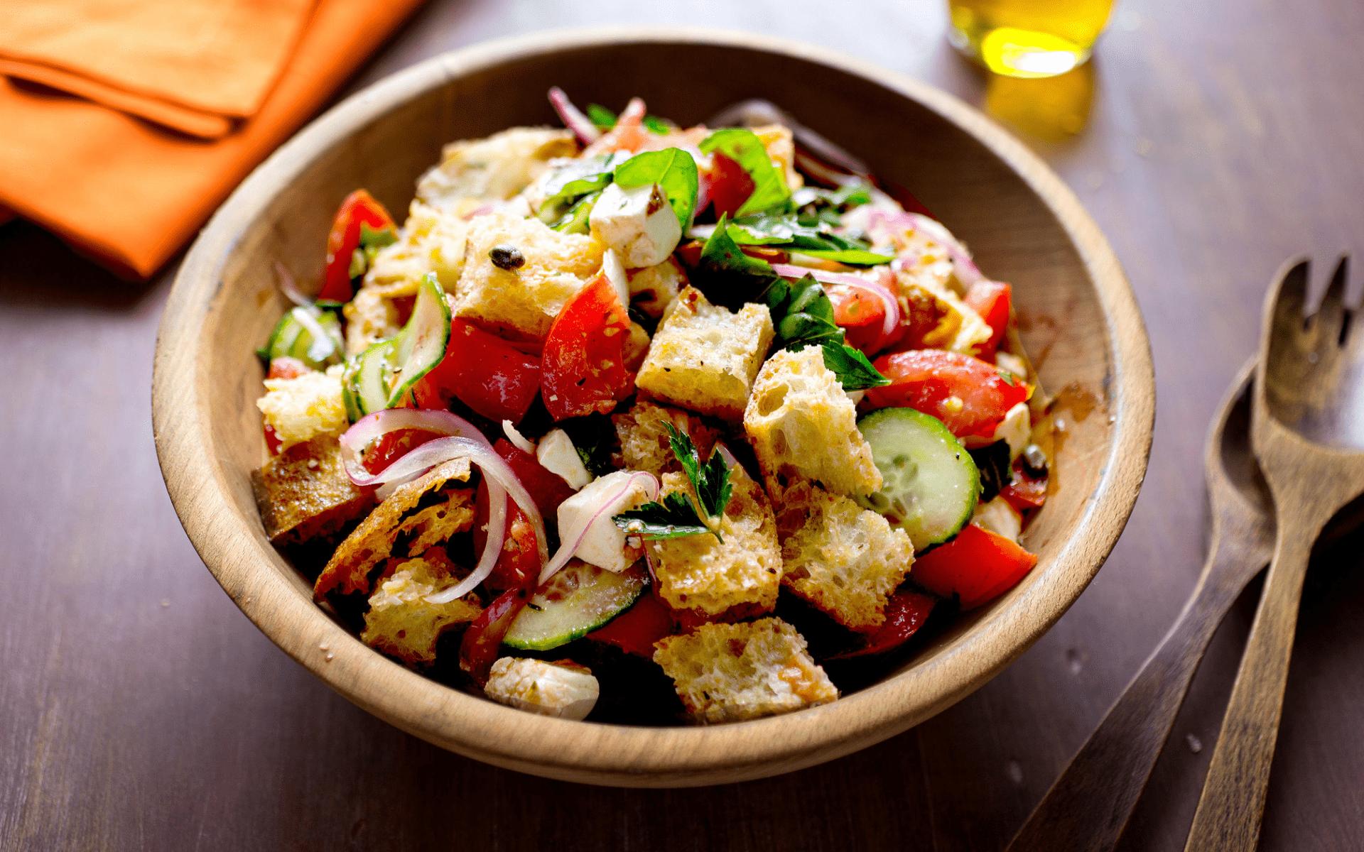 Une recette veggie panzanella