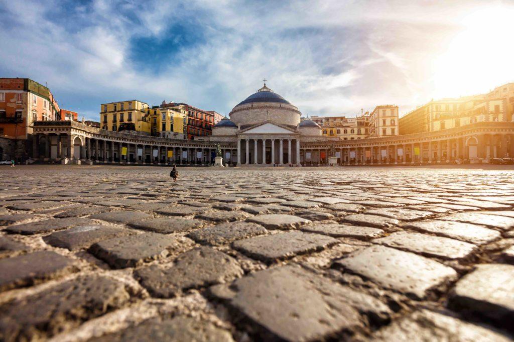 Piazza del Plebiscito Naples italie
