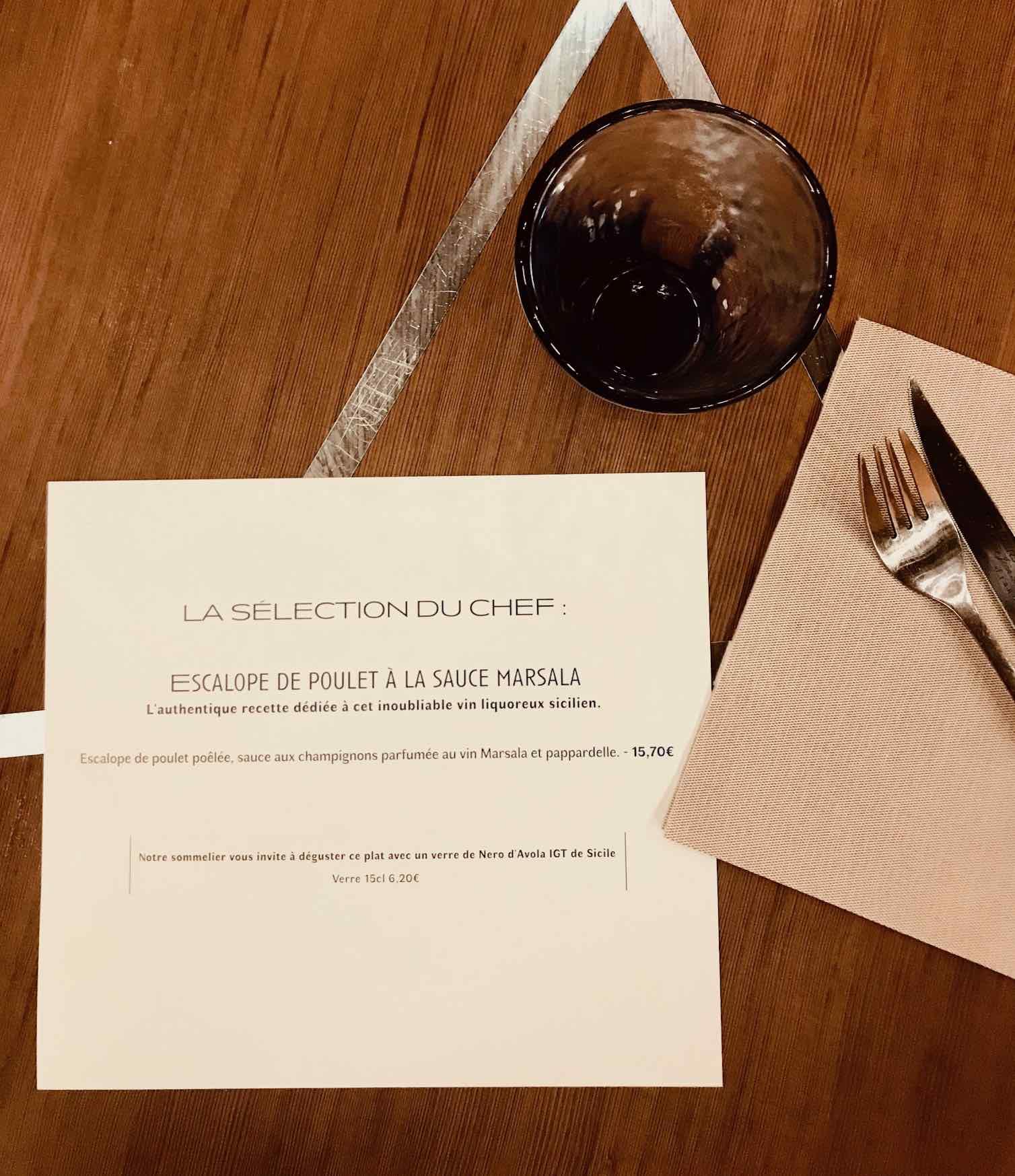 selection du chef escalope marsala